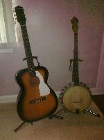daddy's guitar and banjo